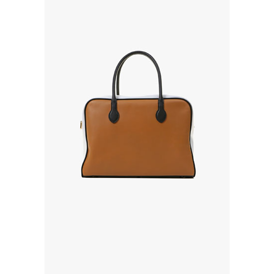 BALMAIN WOMEN TRICOLOR SMOOTH LEATHER PIERRE BAG