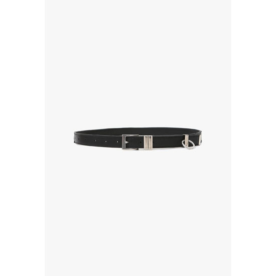 BALMAIN MEN LEATHER AND PERFORATED LEATHER BELT