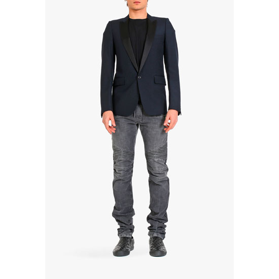 BALMAIN MEN SLIM-FIT WOOL TUXEDO JACKET