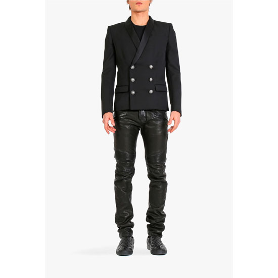 BALMAIN MEN DOUBLE-BREASTED WOOL BLAZER