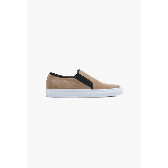 BALMAIN MEN SUEDE SKATE SHOES