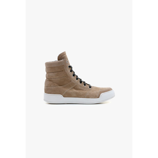 BALMAIN MEN SUEDE HIGH-TOP SNEAKERS