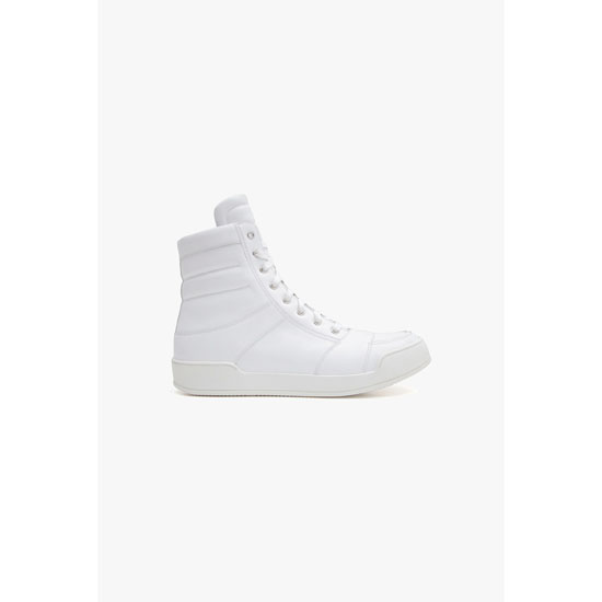 BALMAIN MEN LEATHER HIGH-TOP SNEAKERS