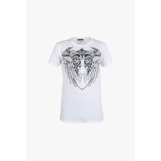 BALMAIN MEN AMERINDIAN PRINTED COTTON-JERSEY T-SHIRT