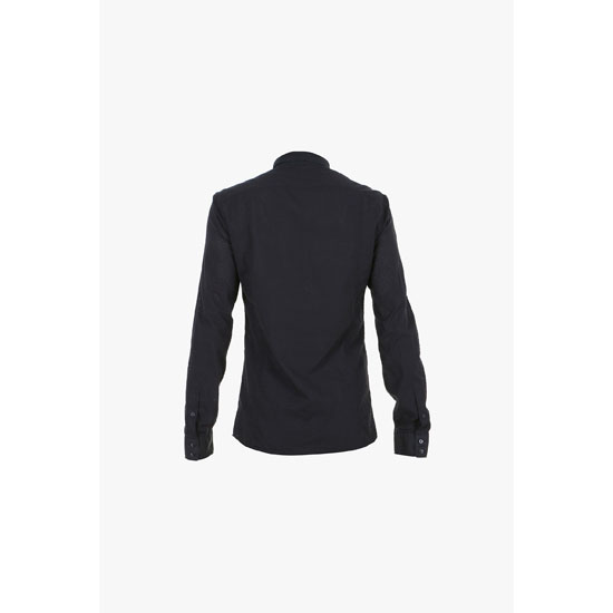 BALMAIN MEN PERFORATED COTTON-POPELIN SHIRT