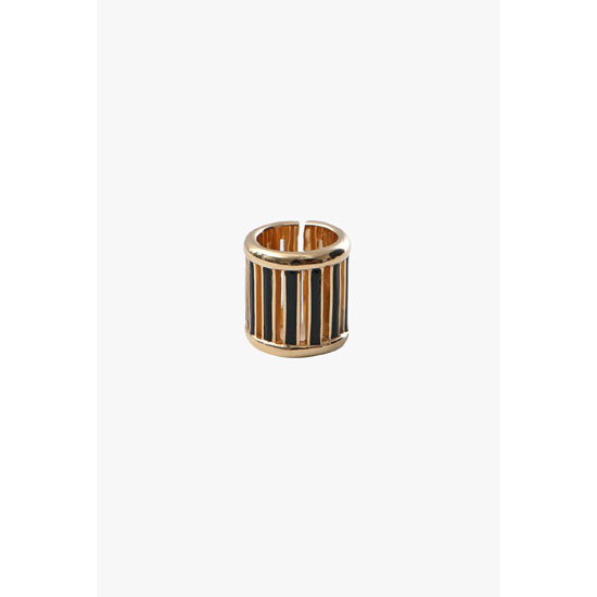 BALMAIN WOMEN GOLD-TONE HORN RING