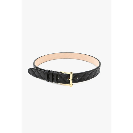 BALMAIN WOMEN QUILTED LEATHER BELT