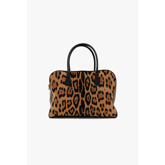 BALMAIN WOMEN PIERRE BAG IN PONYSKIN LEOPARD PRINT