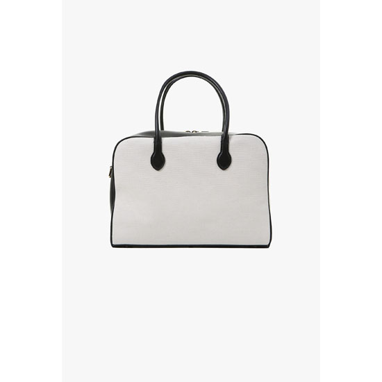 BALMAIN WOMEN LEATHER AND FABRIC PIERRE BAG