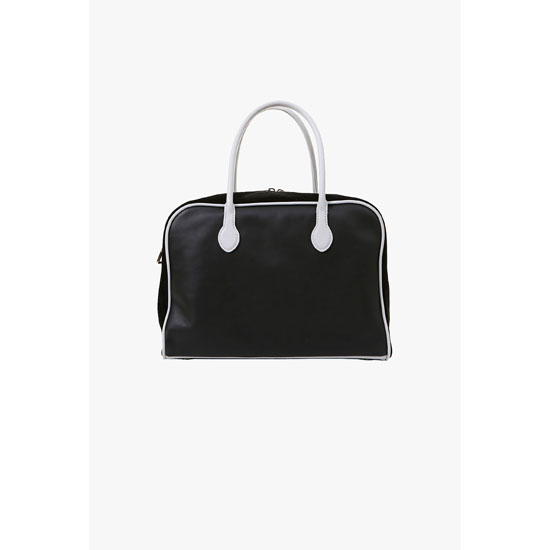 BALMAIN WOMEN LEATHER AND SUEDE PIERRE BAG