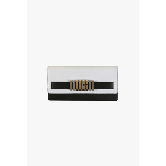BALMAIN WOMEN TWO TONE MATT LEATHER WALLET