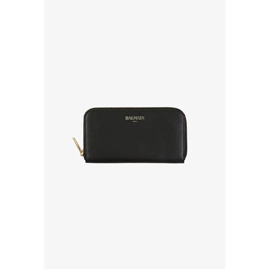 BALMAIN WOMEN SMOOTH LEATHER WALLET