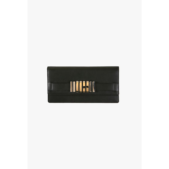 BALMAIN WOMEN MATT LEATHER WALLET