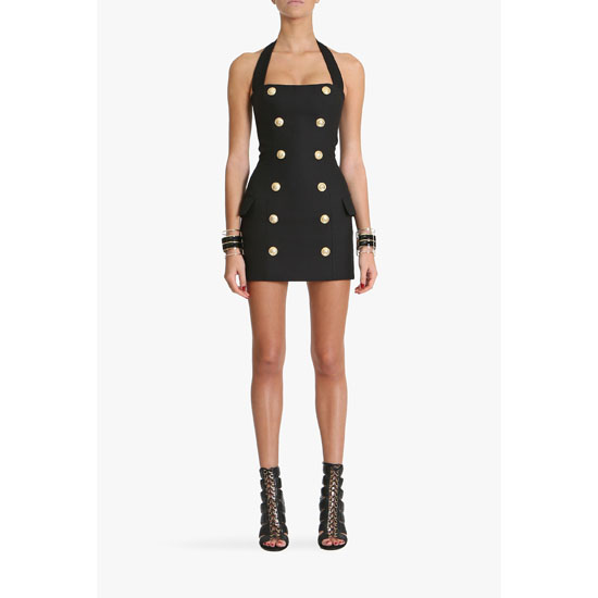 BALMAIN WOMEN SILK BLEND MINI-DRESS