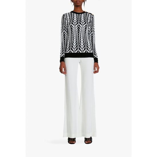 BALMAIN WOMEN VISCOSE BLEND CADY PANTS