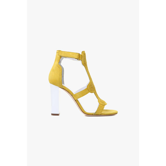 BALMAIN WOMEN ARGI SUEDE SANDALS