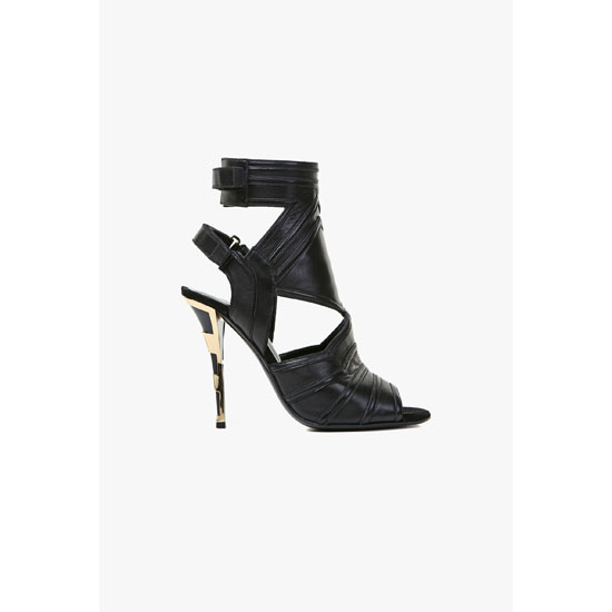 BALMAIN WOMEN KALI LEATHER SANDALS