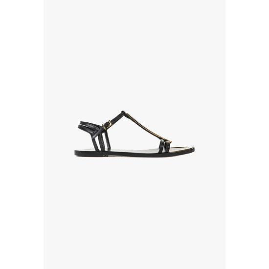 BALMAIN WOMEN SIKA FLAT LEATHER SANDALS