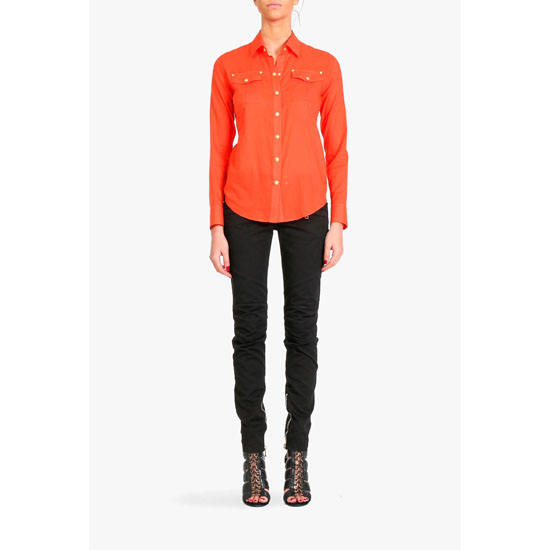 BALMAIN WOMEN PLAIN COTTON SHIRT